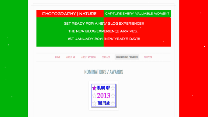 Preview of new Nominations - Awards Page