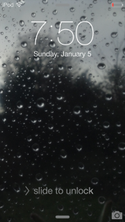 "A Preview of the Wallpaper ""Raindrops on the Glass"" on the 5th Generation iPod touch"