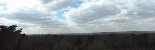 A panoramic view of Shirley Hills