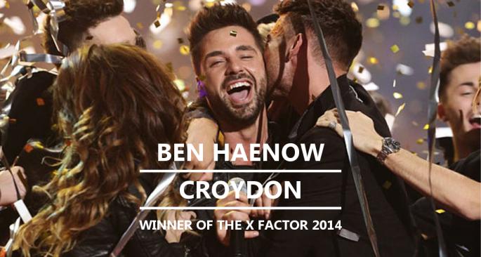 BEN HAENOW - CROYDON - WINNER OF THE X FACTOR 2014