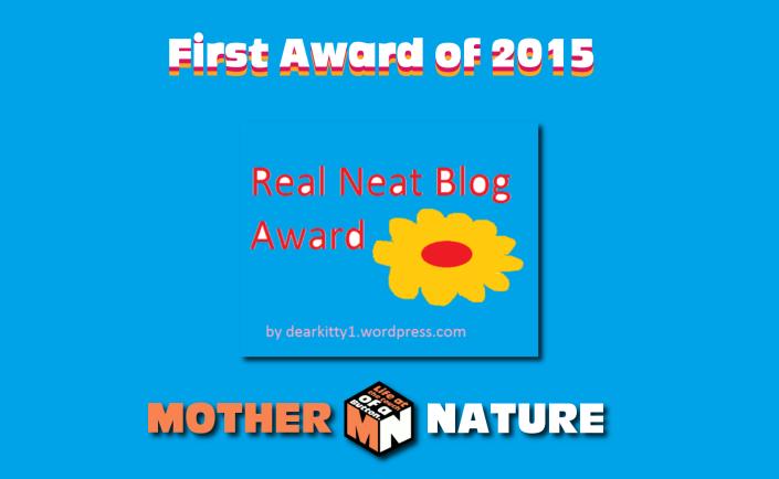 Real Neat Blog Award - First Award of 2015