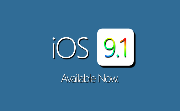 iOS 9.1. Available Now.