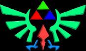 Wingcrest 2 - The Legend of Zelda: Ocarina of Time 3D (Green: Courage, Red: Power, Blue: Wisdom)