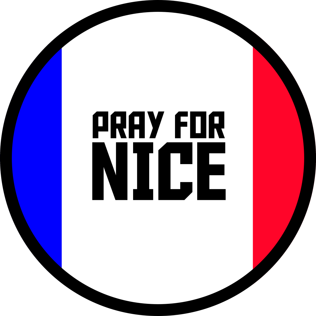 Pray for Nice Support Badge