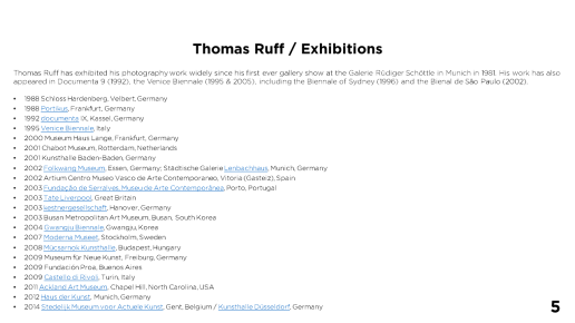 Thomas Ruff / Exhibitions - Page 5