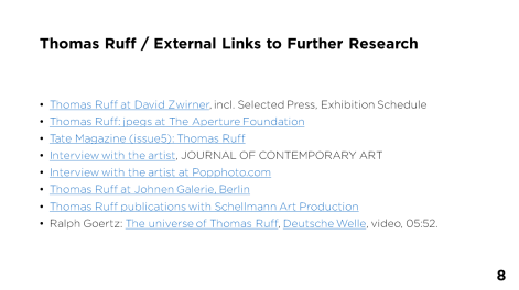 Thomas Ruff / External Links to Further Research - Page 8
