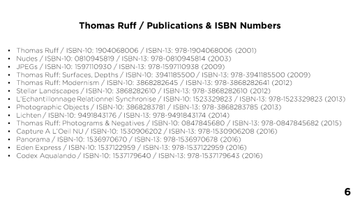 Thomas Ruff / Publications & ISBN Numbers - Page 6
