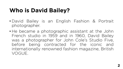 Page 2 - Who is David Bailey?