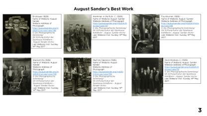 Page 3 - August Sander's Best Work