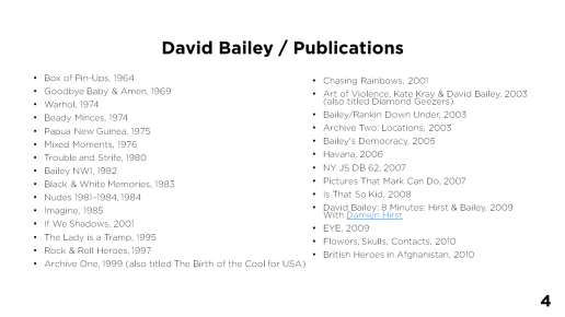 Page 4 - David Bailey / Publications