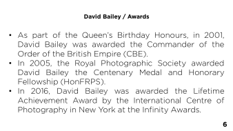 Page 6 - David Bailey / Awards