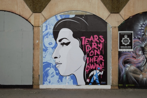 Amy Winehouse Mural by Bareface